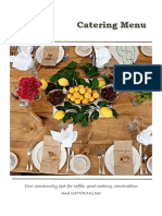Front Porch Catering Menu