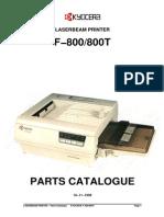 Kyocera F-800 Parts Manual