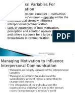 03 Intrapersonal Variables for Communication
