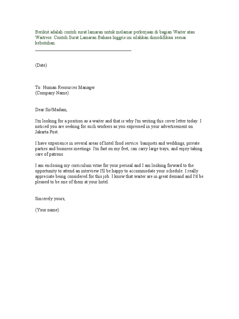 Applcation letter hotel and accommodation business thecheapjerseys Image collections