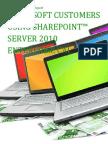 Microsoft Customers using SharePoint™ Server 2010 Enterprise CAL - Sales Intelligence™ Report