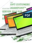 Microsoft Customers using SharePoint™ Server 2010 for Internet Sites Enterprise - Sales Intelligence™ Report