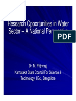 Dr Prithviraj _ Reasearch Opprtunities in Water Sector