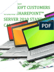 Microsoft Customers using SharePoint™ Server 2010 Standard CAL - Sales Intelligence™ Report
