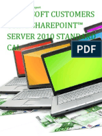 Microsoft Customers using SharePoint™ Server 2010 Standard CAL - Sales Intelligence™ Report