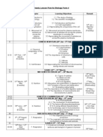 Yearly Lesson Plan Biology F4