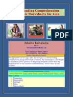 FREE Reading Comprehension Printable Worksheets for Kids