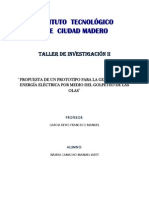 Taller 2- Propuesta de Un Prototipo Para La Generacion de Energia Electrica Por Medio Del Golpeteo de Las Olas