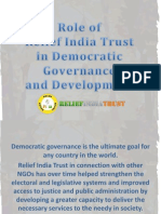 Role of Relief India Trust in Democratic Governance and Development