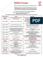 Jimex Schedule