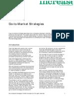 Go to Market Strategies