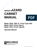 Biohazard Cabinet Operation Manual NSF 49-92-030714