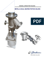 Metal and Dual Seated Piston Valves