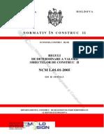 NCM_L.01.01.2005 Reguli de Determinare a Valorii Obiectivelor de Construcţii