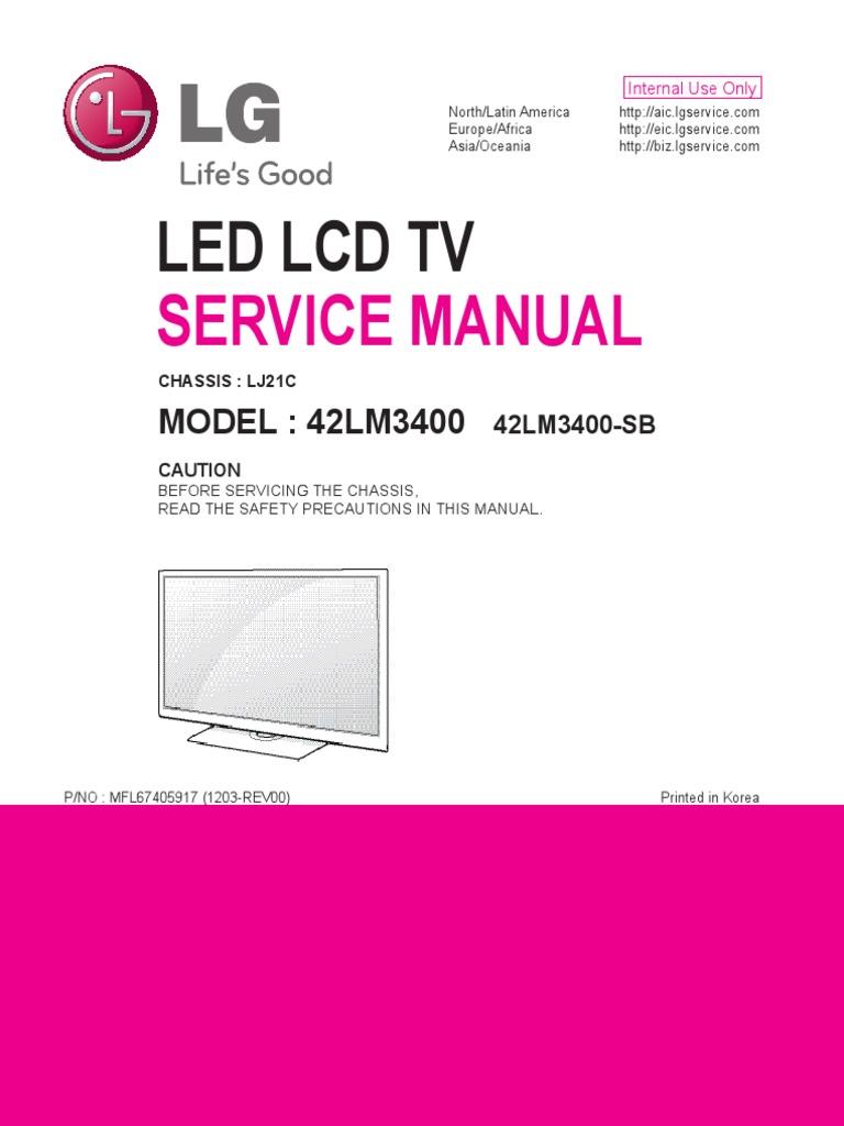 LG TV Service Manual | Alternating Current | Hdmi