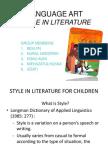 Language Art Style in Literature