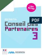 Troisième Conseil des partenaires