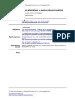 Alternatives to EBM Isaacs 2006