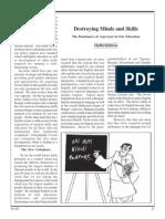 Madhu Kishwar'sDestroying Minds and Skills The Dominance of Angreziyat in Our Education