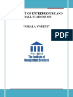 Entreprenure Project Report on Nirala