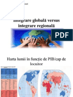 Seminar 1. Integrare Global-â Versus Integrare Regional-â