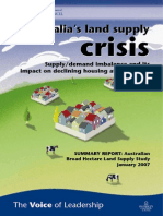 Australias Land Supply Crisis