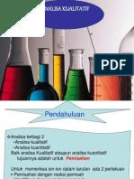 Analisa Kualitatif+kation aniion