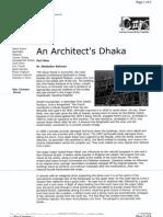 An Architect's Dhaka by Mahbubur Rahman