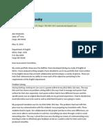 Framing Letter