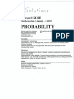 GCSE Topics - Probability - Answers
