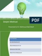 Delphi Method - Amr Ali