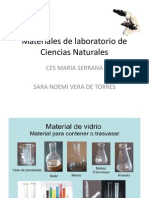 Materiales de Laboratorio de Ciencias Naturales