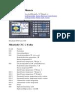 Mitsubishi CNC Manuals