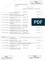2014 2nd Semester Final Exam Timetable