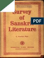 Survey of Sanskrit Literature - C. Kunhan Raja