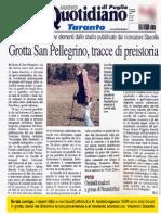 Grotta San Pellegrino, tracce di preistoria. R. Conte.