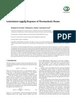 Generalized Lagging Response of Thermoelastic Beams
