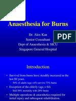 Aneasthesia Burns Course