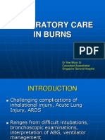 Respiratory Care in Burns