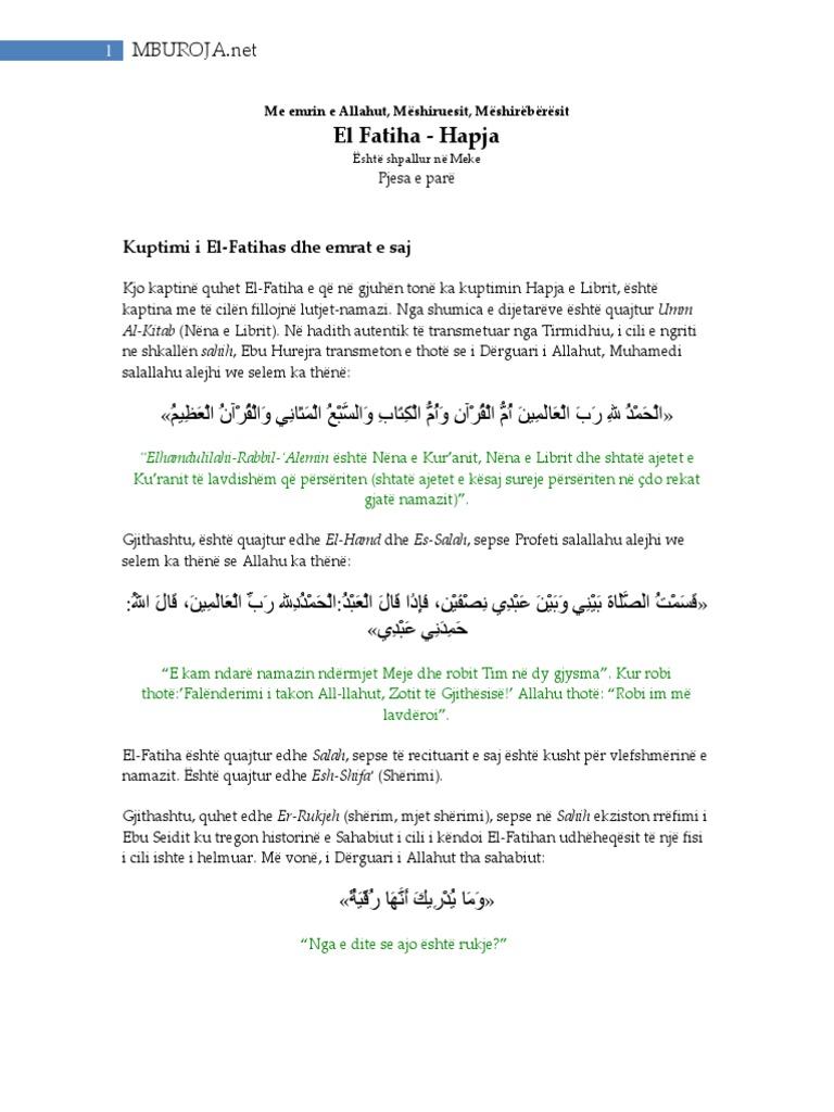 Prmbledhje Nga Tefsiri I Ibn Kethirit