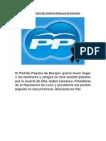 Comunicado Del Partido Popular de Burujón