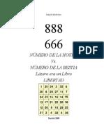 666 y 888 Bestia y Hostia