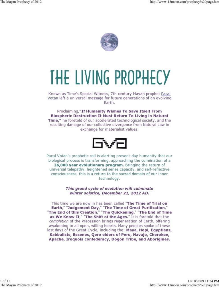 The Mayan Prophecy of 2012   2012 Phenomenon   Maya Civilization
