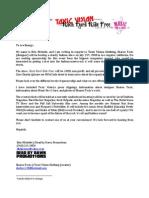 Toxic Vision Sponsorship Letter