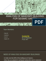 ANALYSIS OF MASONRY BUILDING FOR SEISMIC SAFTEY