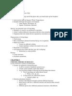 BIO Ch. 1 Notes