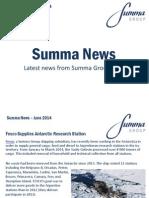 Summa Group News June 2014