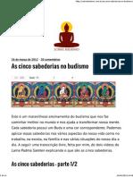 As Cinco Sabedorias No Budismo _ Sobre Budismo