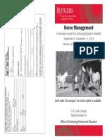Horse Management Course