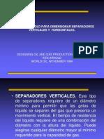 Metodo de Arnold Para Dimensionar Separadores Verticales y